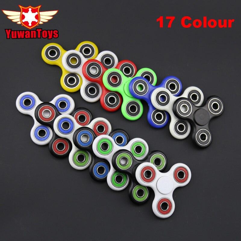 Tri-Spinner Fidget Speelgoed Vingertop Gyroscoop Plastic EDC Hand Spinner Voor Autisme En ADHD hand Spinner EDC Zintuiglijke Fidget Spinners