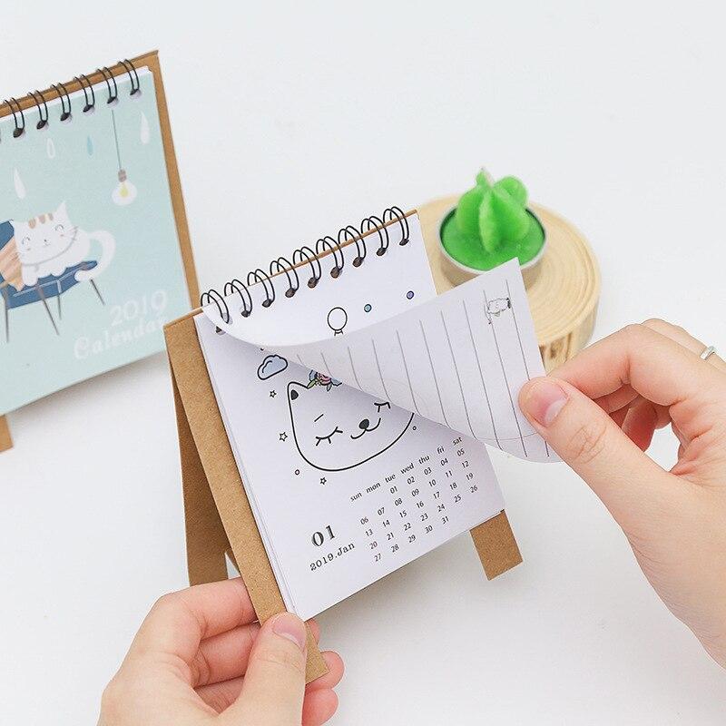Kalender, Planer Und Karten Obligatorisch Calendario Adviento 2019 Neue Jahr Mode Cartoon Tisch Kalender Mini Tisch Schreibtisch Kalender Agenda Organizer Planer Buch Kalender