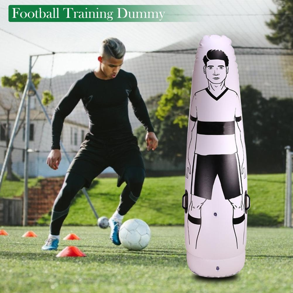 1.75M Inflatable Football Training Goal Keeper Column Stand Football Tumbler Soccer Football Training Dummy Tool For Kid Adult
