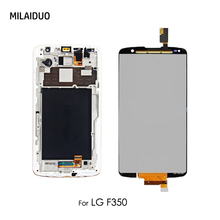 LCD Display For LG Optimus G Pro 2 F350 D837 D838 Touch Screen Digitizer Assembly Replacement 5.9'' Black White No/with Frame все цены