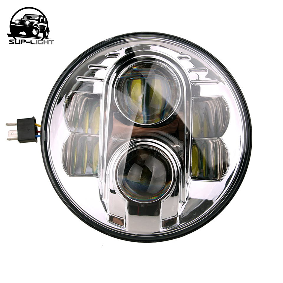 Pair 7'' 80W Sealed Beam Led Projector Headlights For Land