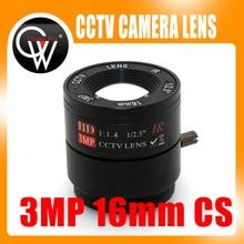 3MP 16mm CS Lens 3Megapixel 1 2 5 F1 4 CS Fixed IR CCTV Lens For
