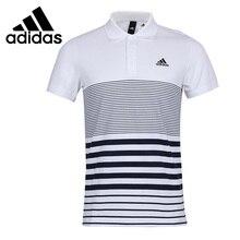Новое поступление Adidas SA SS поло Для мужчин упражнения рубашки поло с коротким рукавом спортивная