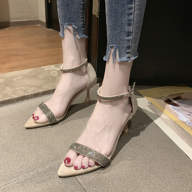Rimocy Summer Sandals for Women Fashion Sequins Sandals Mujer 2019 Ankle High Heels Sandalias Party Open Toe Woman ShoesRimocy Summer Sandals for Women Fashion Sequins Sandals Mujer 2019 Ankle High Heels Sandalias Party Open Toe Woman Shoes