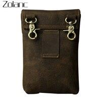 Retro Genuine Leather Men S Waist Bag For Phone Bag Small Shoulder Messenger Bag Travel Fanny