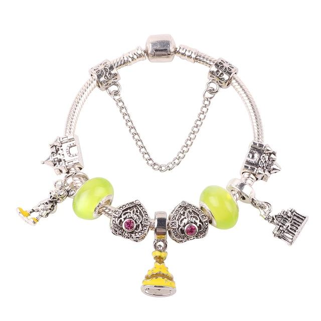 1b1ef420c88a € 3.27 30% de DESCUENTO Dodocharms de Color plata romántico de pulsera de  encanto de cristal amarillo granos DIY pulsera fina pulsera para mujeres ...