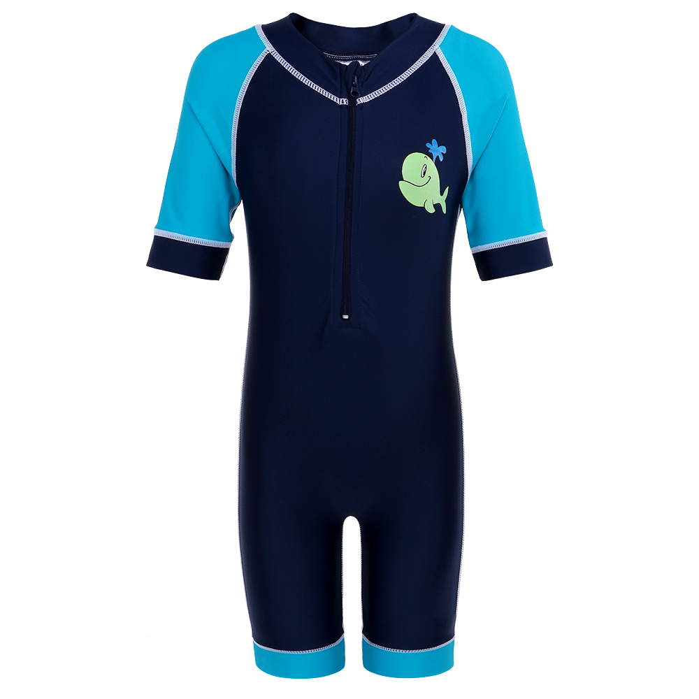 BAOHULU Kids Wet Suit Baby Boys Rash Guards Short Sleeve Swimsuits For Boy 50+UV Protective Children Swimwear Surf  Bathing Suit