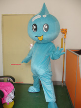 summer hot sale New Adult size blue water drop mascot costume with suits font b shoes