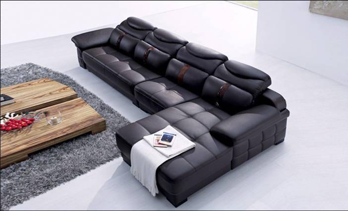 Kostenloser Versand Italien Design Luxus Leder Ecksofa, Mit Eiche  Holzrahmen, Hohe Elastische Schwamm Sitzgruppe