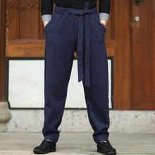 Традиционная китайская мужская одежда, кунг-фу, штаны, восточные штаны, Мужская этническая одежда, Восточная Мужская одежда, CC210