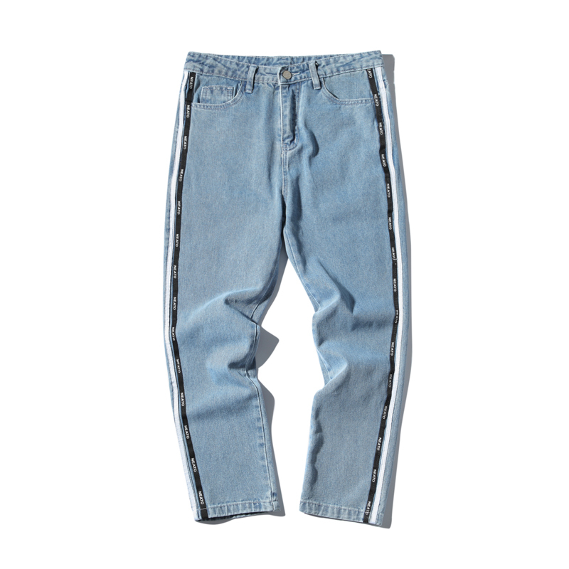 Wind Nine Part Jeans Bound Feet Pants blue The new listing Favourite Fashion Free shipping wild casual