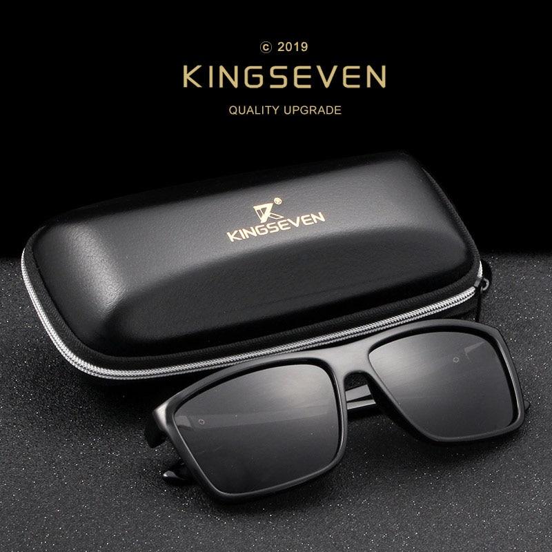 KINGSEVEN Marca Gafas de Sol de Estilo Vintage Hombres UV400 Clásico - Accesorios para la ropa - foto 2