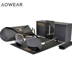 4ca3568a63 AOWEAR Polarized Sunglasses Men Sun Glasses for Male Oculos