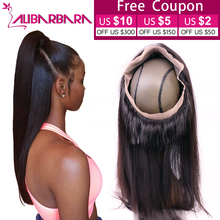 Alibarbara 360 Lace Frontal Closure 7A Peruvian Virgin Hair Straight Lace Frontals With Baby Hair Natural Hairline