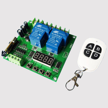 2 way 30A relay with wireless remote control switch DC12V24V/high power/positive and negative motor/power access control цена 2017