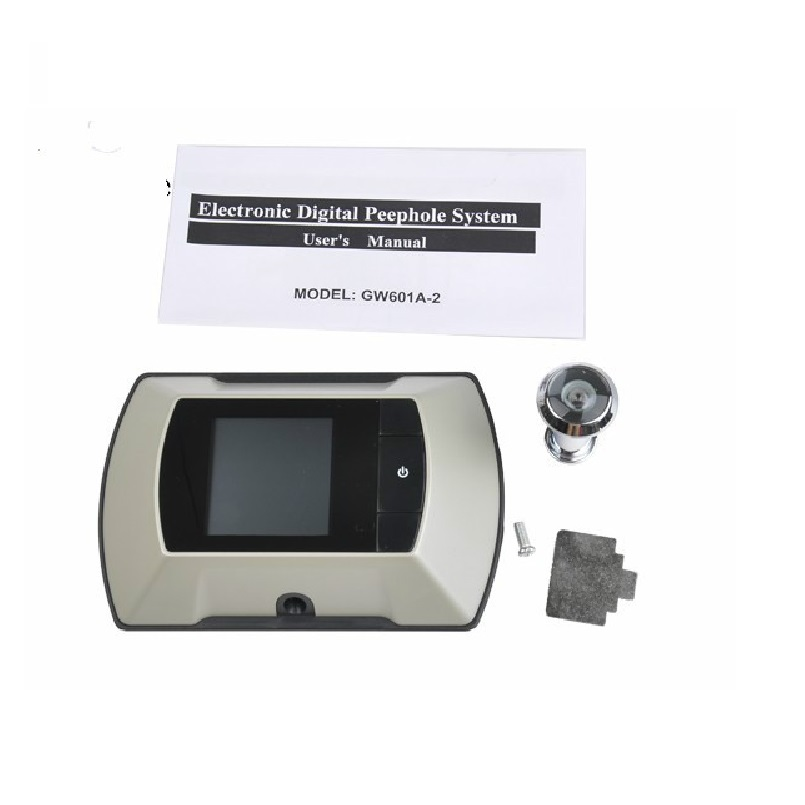 2.4 inch LCD video eye door camera peephole 0.3M pixels CMOS camera Easy Version Widen Viewing Angle Power by 2PCS Dry Battery2.4 inch LCD video eye door camera peephole 0.3M pixels CMOS camera Easy Version Widen Viewing Angle Power by 2PCS Dry Battery