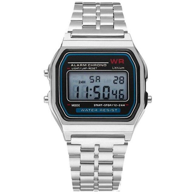 LED Digital Waterproof Quartz Wrist Watch Dress Golden Wrist Watch Women Men Fashion casual luxury Silver female watch