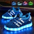 LED Shoes for Boys Дети Light Up Shoes Светящиеся Кроссовки Мальчики Открытый Кроссовки с Мигалками Shoes детская Светодиод