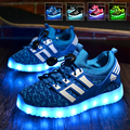 Led shoes para niños kids light up shoes brillante sneakers shoes niños chicos zapatillas de deporte al aire libre con luces intermitentes led