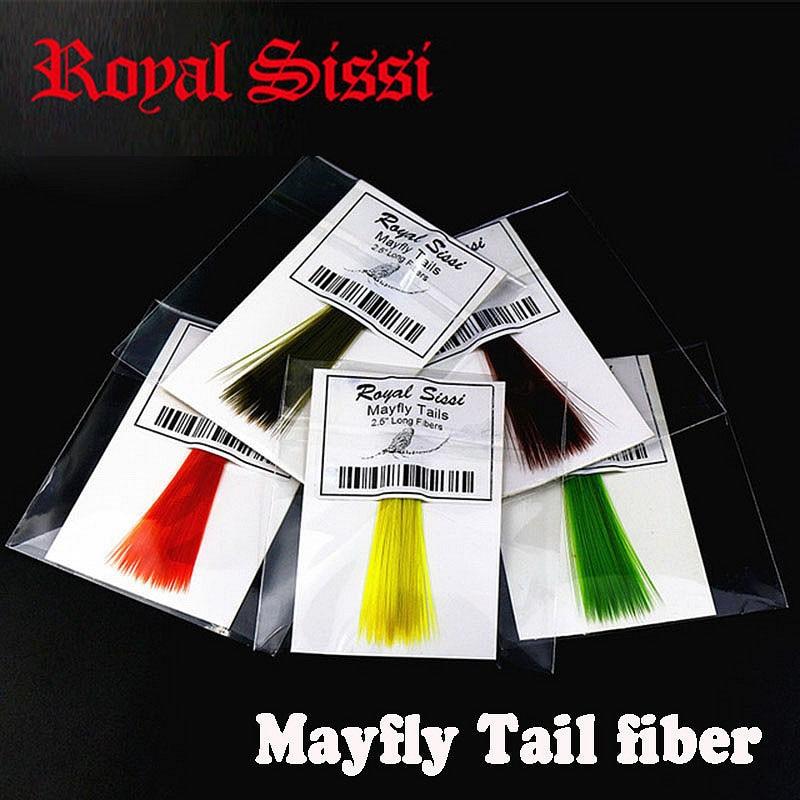 Royal Sissi 4packs sett 2,5 '' lang flybinding syntetisk mayfly halefibre vannbehandlet behandlet nylon mikrofiber stive tørre flytehaler