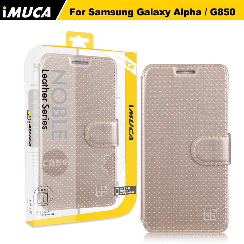 iMUCA Phone Cases for Samsung Galaxy Apha Flip Leather Case Cover Shell For Samsung Galaxy Alpha G850 G850F Mobile Accessories