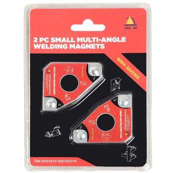 Mini imán de soldadura multiángulo/abrazadera magnética de neodimio para sostener 2 piezas paquete unids Doble