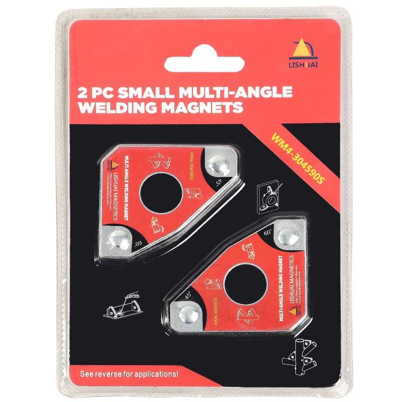 Multi-angolo di Saldatura Mini Magnet/Magnetiche Al Neodimio Clamp per Tenere 2 pz Confezione Doppia