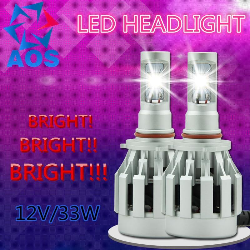 2 x LED Car Headlight Kit CREE LED Bulb H1 H7 H11 H16 HB3 HB4 9005 9006 9012 HB3 HB4 6000K Headlamp light 2017 new car led headlight h7 led h11 9005 hb3 9006 hb4 9012 car cob led headlamp bulb car light source front light 6000k
