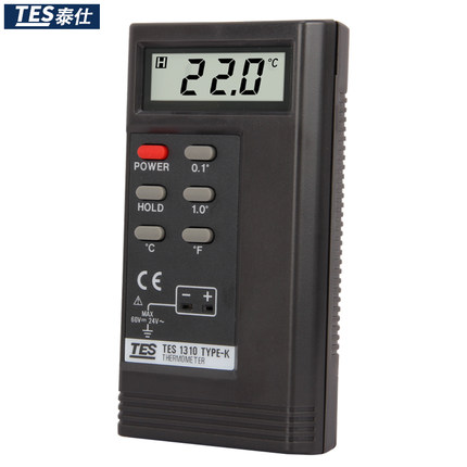 TES-1310 Digital Thermocouple Thermometer Temperature Reader Sensor TES-1310 With 2 K Type Temperature Sensor Wires stc 1000 digital all purpose temperature controller with sensor for aquarium