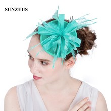 e2a1b722 Bridal Wedding Hats and Fascinators Feathers Womans Black Wedding Hats  Small Linen Hair Accessories SH78(