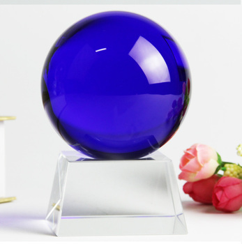 10 CM Large 2020 home -guarding exorcising efficacious Talisman House Protection Money Drawing FENG SHUI  blue Crystal ball