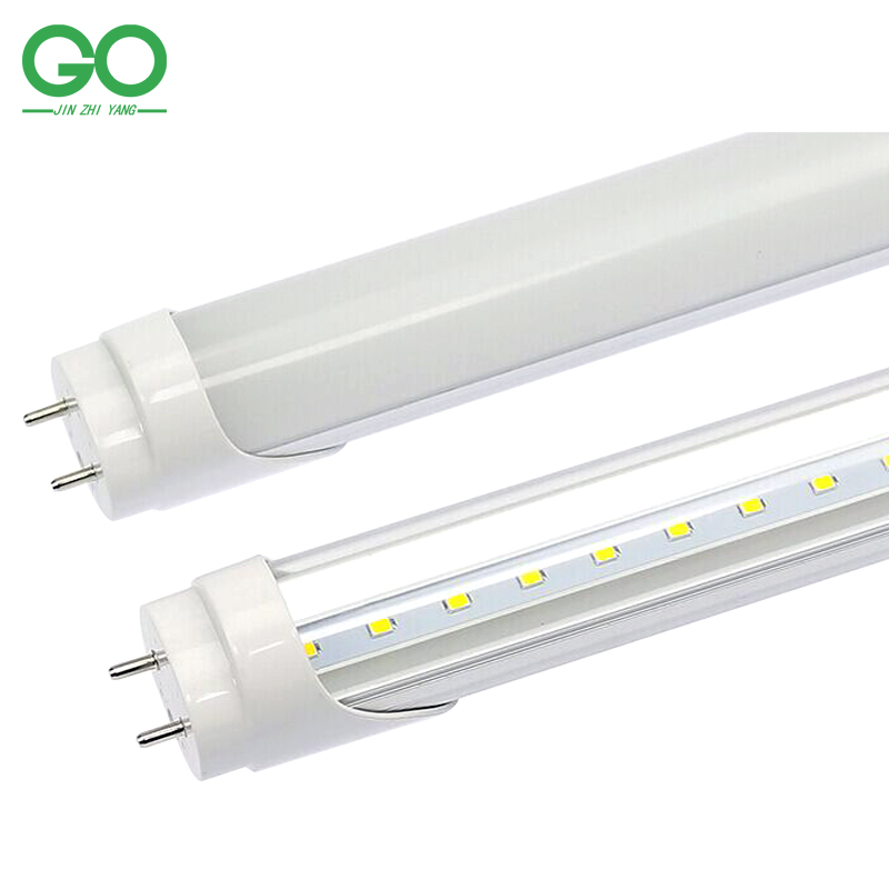 GO OCEAN LED T8 Tube 9W 13W 18W 24W Tube Light 0.6m 0.9m 1.2m 1.5m G13 2ft 3ft 4ft 5ft Milky Clear Cover 110V 120V 220V 240V led t8 integrated tube 10w 600mm 110v 220v 85 265v transparent clear cover milky cover free ship 2ft white warm white smd2835