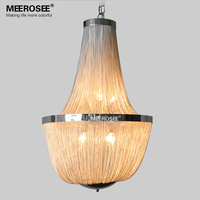 Modern Chain Pendant Light Fixture Vintage Aluminum Hanging Suspension Lustre Chain Pendant Lamp Drop Lighting