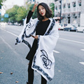 Moda europeus e Americanos sexy plus size cachecóis Camélia longo sheep velvet xaile do lenço por atacado de todos os jogo duplo primavera wj62