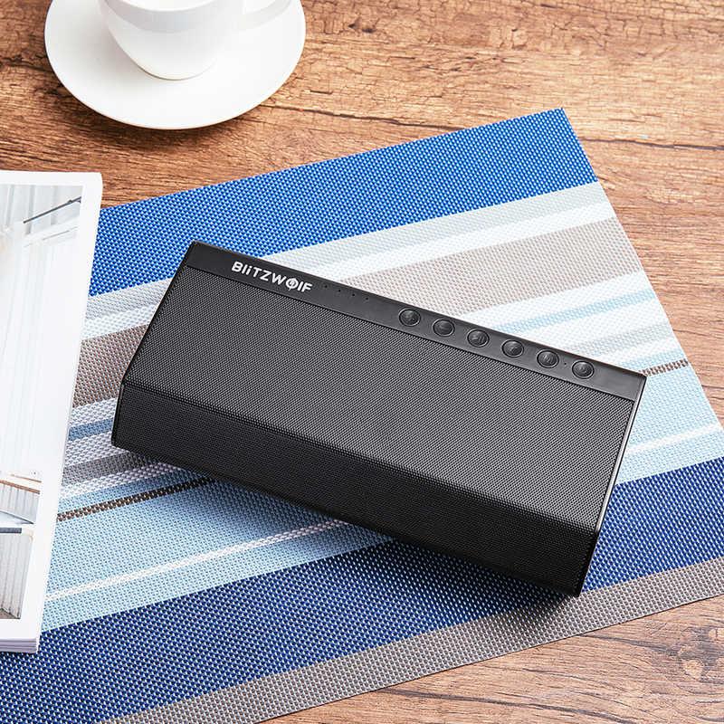 BlitzWolf 40W 5200mAh Doppel Fahrer Tragbare Wireless bluetooth Lautsprecher 30W Gestärkt Nach Oben Bass Hände-freies Aux -in Lautsprecher