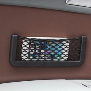 Image 2 - אוניברסלי רכב מושב צד חזרה אחסון נטו תיק טלפון בעל כיס ארגונית Stowing לסדר