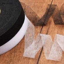 Nanchuang Нетканая липкая прокладочная двухсторонняя плавкая ткань для DIY кукол материал 10 мм/15 мм/20 мм/30 мм* 70 ярдов черный белый