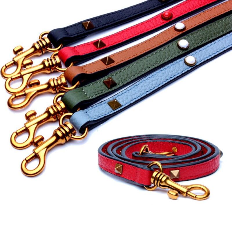 Women Shoulder Leather Bag Strap Colorful Rivet Bag Straps Female Handbag Straps Bag Accessories Purse Belt