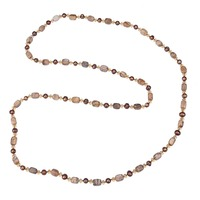 Bohemian Potato Thread Real Pearl Bead Jewellery Stone And Crystal Women Long Necklace Blade Rope Chain For Party