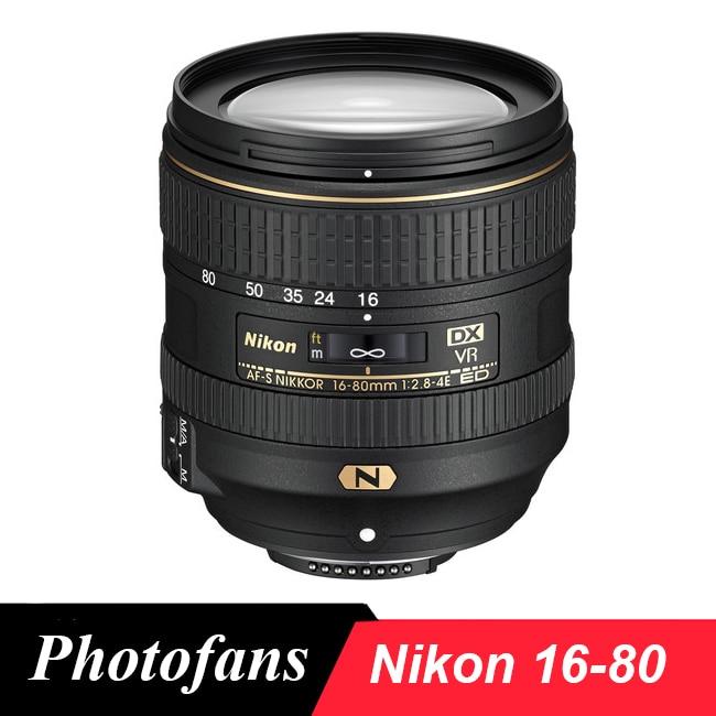 Nikon 16-80 Lens AF-S DX NIKKOR 16-80mm f/2.8-4E ED VR Lenses for Nikon D500 D300 D300s D7200 D7100 D7500 nikon d7200 kit 18 105mm vr черный