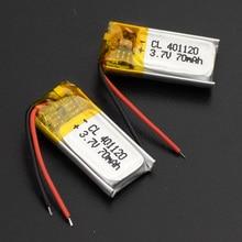 70mAh 401120 3.7V rechargeable li ion battery li polymer lithium battery for MP3 MP4 GPS b