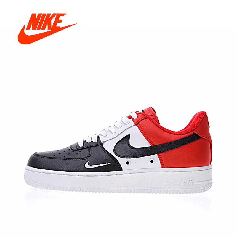 33e9840f Оригинальный Новое поступление Аутентичные Nike Air Force 1 Low мини Swoosh  Для Мужчин's Скейтбординг обувь Спорт