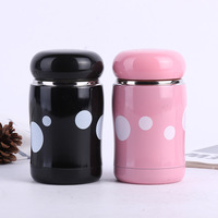 2PCS Cute Mushroom Stainless Steel Vacuum Flasks Thermoses Creative Belly Cartoon Cup For Lovers Gifts 13