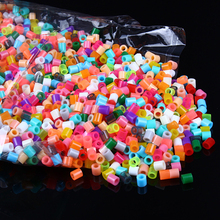1000PCS Mixing Colors Fuse Beads 5MM Ironing Beads Hama Beads Tangram Jigsaw Boards Puzzle Gifts Supplementary