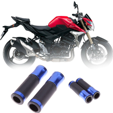 7 8 22mm Motorcycle Handle Bar Grips CNC Aluminum Rubber Gel Motorbike Handlebar Grips Blue Red