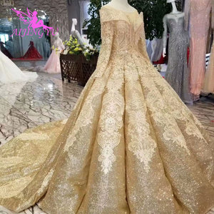 Image 1 - Aijingyuウェディングドレス女性のためのヴィンテージブライダル2021ロイヤル蝶除草花嫁自由奔放ウェディングドレスオンラインショッピング