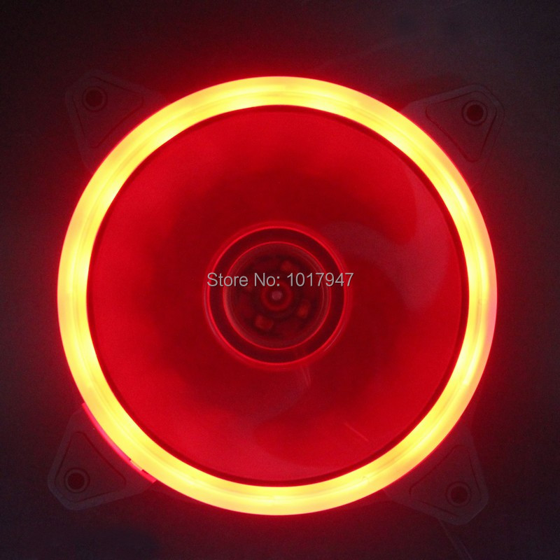 5PCS lot Aura 120mm x 25mm 12cm Computer Case Cooling Fan with Red Led Light 1500RPM 50w 25 led red