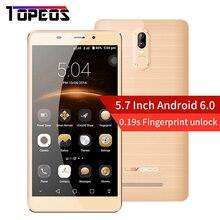 Initial Leagoo M8 Pro Mobile Phone 5.7 Inch Android 6.0 MTK6737 Quad Core 1.3 GHz 2GB RAM 16 GB ROM HD 13.0 MP Fingerprint 4G LTE