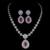 Promoción limitada Waterdrop Superior de Imitación Conjunto Con Aretes Collar de La Joyería Femenina Pulsera Anillo de Sistemas de La Joyería para Las Mujeres