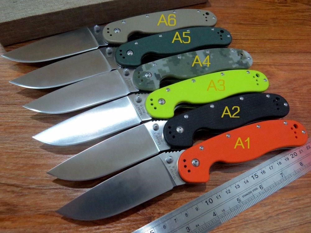 5PCS LOT New sale Efeng E R1 Folding font b Knife b font With Sand Light